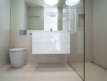 An Image of bathroom waterproofing work conducted by Flex A Seal for a Melbourne developer.
