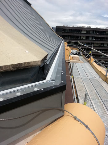 An image of the Victorian State Library in Melbourne during waterproofing work carried out by Flex A Seal