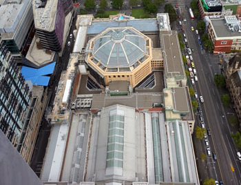 An image of the Victorian State Library's roof in Melbourne during waterproofing work carried out by Flex A Seal