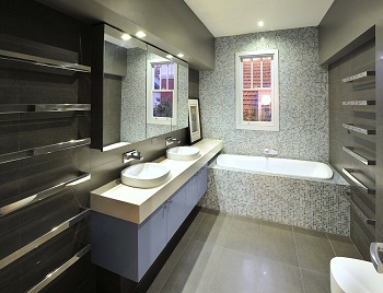 An image of bathroom waterproofing work carried out by Flex A Seal for a Melbourne developer.